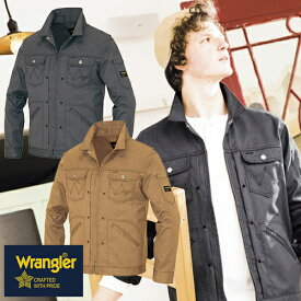 ラングラー Wrangler 作業着 作業服 ブルゾン ジップアップジャケット(男女兼用) AZ-64101 作業着 通年 秋冬 2018年 新作 新商品