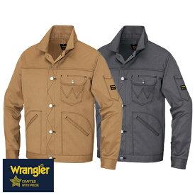 ラングラー Wrangler 作業着 作業服 ブルゾン ボタンジャケット(男女兼用) AZ-64102 作業着 通年 秋冬 2018年 新作 新商品