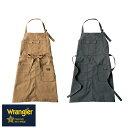 エプロン おしゃれ 無地 可愛い かわいい ラングラー Wrangler 前掛け 胸当てエプロン AZ-64180 2018年 新作 新商品 …