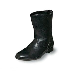 先芯入り作業靴 ロング エンゼル Angel 消防作業靴(合成先芯) M312 消防作業靴 小さいサイズ スモールサイズ メンズ 男性用 ベーシック(黒メイン革)