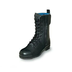 先芯入り作業靴 ロング エンゼル Angel 消防作業靴(合成先芯) M601 消防作業靴 小さいサイズ スモールサイズ メンズ 男性用 ベーシック(黒メイン革) 紐靴