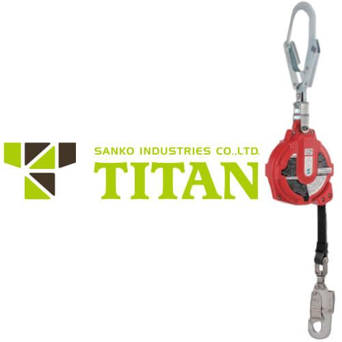 サンコー(タイタン) 安全ブロック セイフティブロック マイブロック 6m MY-6HR型 引寄ロープ付き ストラップ式
