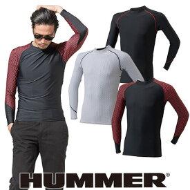 インナー 長袖 HUMMER ハマー 極涼 クールコンプレッション長袖クルーネック 9020-15 夏用 涼しい クール 空調服におすすめ 夏用インナー 空調服用 熱中症対策 スポーツ アウトドア トレーニングにも