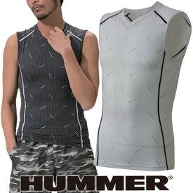 インナー 半袖 HUMMER ハマー クールコンプレッションノースリーブシャツ 9041-15 夏用 涼しい クール 空調服におすすめ 夏用インナー 空調服用 熱中症対策 スポーツ アウトドア トレーニングにも