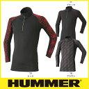 HUMMER 835-15 防風ジップアップ メンズ 防寒ウェア ハマー 冬用インナー 長袖シャツ 寒さ対策