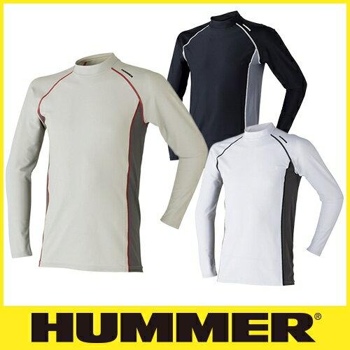 インナー 長袖 HUMMER ハマー クールコンプレッション長袖ローネック 9003-15 夏用 涼しい クール