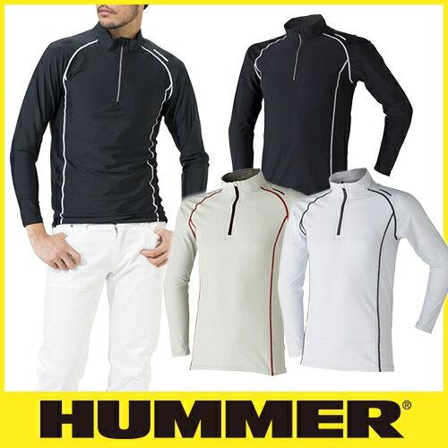 インナー 長袖 HUMMER ハマー クールコンプレッション長袖ジップアップ 9006-15 夏用 涼しい クール