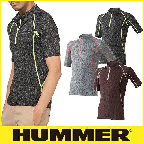 インナー 半袖 HUMMER ハマー クールコンプレッション半袖ジップアップ 9026-15 夏用 涼しい クール