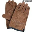牛床革手袋(オイル加工) ユニワールド A級 オイル牛床革 内縫い 1双 KS447 総革製 作業手袋