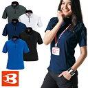 バートル 作業服 ジップアップ 415 半袖ジップシャツ BURTLE 作業着 半袖シャツ 通年 秋冬