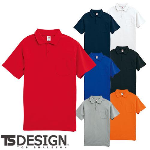 作業着 作業服 藤和 TS Design 半袖ポロシャツ 1065 秋冬 通年 ポロシャツ