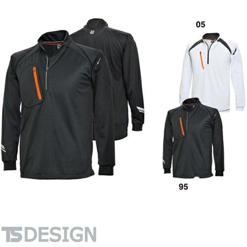 TS Design 藤和 5025 FLASHロングスリーブハーフジップ ユニセックス(メンズ・レディース対応)