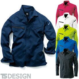 作業服 長袖シャツ 藤和 TS Design AIR ACTIVE ロングスリーブシャツシャツ 8105 作業着 春夏