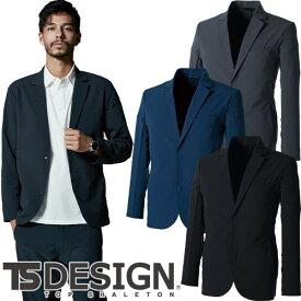 作業服 ジャケット ブルゾン 藤和 TS Design TS 4D ステルスメンズジャケット 9136 作業着 通年 秋冬 テーラード スーツ風 2020年 新商品 新作