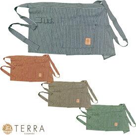 TERRA テラ ガーデンエプロン ショート ヒッコリー TR-110NB、TR-110R、TR-110CO、TR-110G