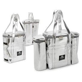 【保冷バッグ】4WAYの使い方ができる BE COOL クーラーバッグ 2ボトルクーラー付き XW171SV アウトドア、ワインの持ち運びに