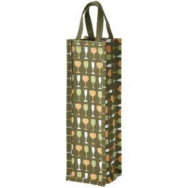 麻ワインバッグ1本用 グリーン 10袋セット 07121 ワインギフトバッグ