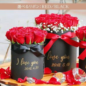 花束よりカジュアルに。でもラグジュアリーなボックスフラワー。luxuriousbox選べるサイズM・L【バラ薔薇赤花束プレゼントギフト誕生日歓送迎会結婚祝い記念日還暦祝いプロポーズ母の日メッセージ花指定日配達対応土曜営業】