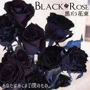 本数を選べる黒バラの花束 | 誕生日やお祝い、記念日に年齢分の本数でプレゼント | 黒 黒いバラ ブラックローズ 【50…