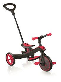 送料無料! GLOBBER エクスプローラー トライク レッド (赤) 3in1 WLGB631102 ギフト包装無料! 三輪車 キックバイク ペダル付き