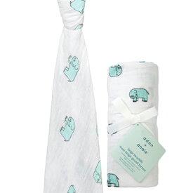aden&anais スワドル1枚パックjungle jam - elephant classic swaddle エイデンアンドアネイ 出産祝い プレゼント ギフト ぞうさん
