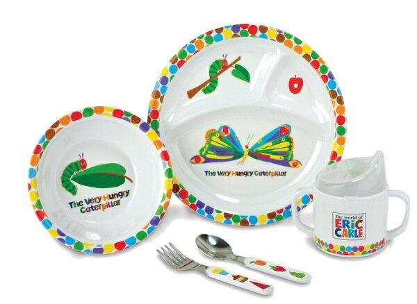 エリックカール 「はらぺこあおむし」 食器セット(ドット柄) 日本育児 (NI-6050006001)
