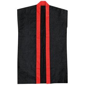 袖なしはっぴロン 黒 赤 20−155-