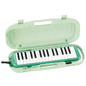 (お得な3台セット)鈴木 SUZUKI 鍵盤ハーモニカ 32鍵 メロディオン グリーン MXA-32G 楽器 [人気アイテム] 練習 吹奏楽 学校 キーボード ピアノ