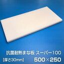 ヤマケン 抗菌耐熱まな板 スーパー100 500×250×30mm