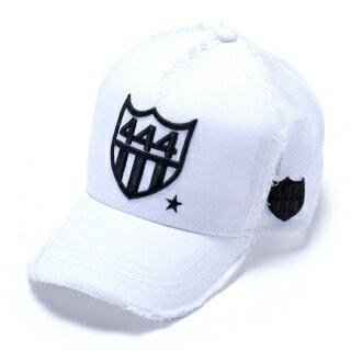 [再入荷]YOSHINORI KOTAKE[ヨシノリコタケ] YK3D-444★ CAP[WHT] コットンツイルメッシュキャップ 444(ホワイト ブラックスター刺繍)メンズレディース444