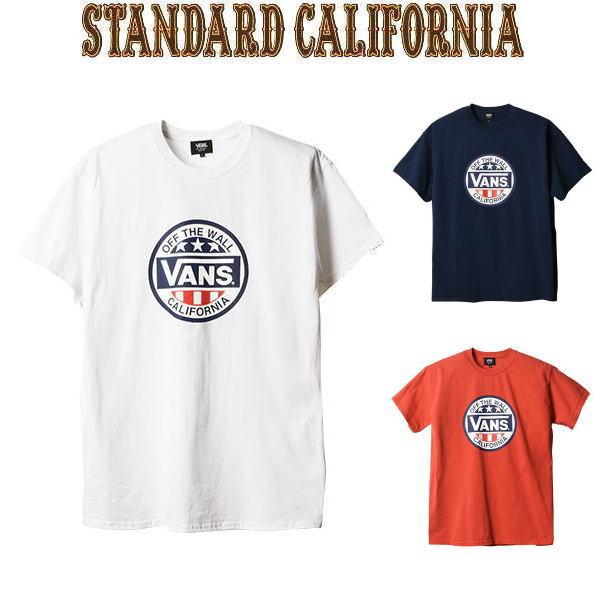 楽天スーパーセール特別価格!!SALE!! VANS × STANDARD CALIFORNIA [バンズ×スタンダードカリフォルニア] SD CIRCLE LOGO T [WHITE,NAVY,RED] サークルロゴTシャツ (ホワイト、ネイビー、レッド) AHS
