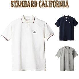 STANDARD CALIFORNIA [スタンダードカリフォルニア] SD SHIELD LOGO POLO SHIRT TYPE 2 [WHITE,NAVY,GRAY] シールドロゴポロシャツ タイプ2 (ホワイト、ネイビー、グレー) AHS