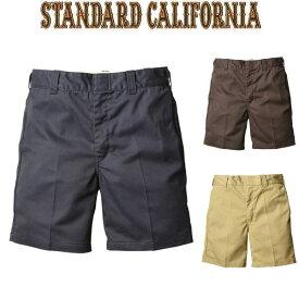 STANDARD CALIFORNIA [スタンダードカリフォルニア] SD T/C WORK SHORTS [NAVY,BROWN,BEIGE] T/Cワークショーツ ショートパンツ (ネイビー、ブラウン、ベージュ) AHS