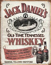 【再入荷】ジャックダニエルズ☆Sippin Whiskey☆ブリキ看板☆JACK DANIELS