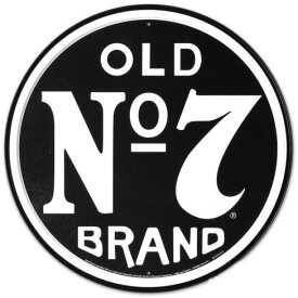 ジャックダニエルズ Jack Daniels Old Number 7 丸型ブリキ看板