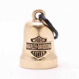 【人気再入荷】(バイク用品)ハーレーダビッドソン バー&シールド ロゴ バイク ライド ベル ゴールドトーン【ガーディアンベル】【Harley-Davidson】