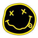 【NIRVANA】スマイル ステッカー『ニルヴァーナ』 カーステッカー 幅約6cm【自動車 デカール ニルバーナ】