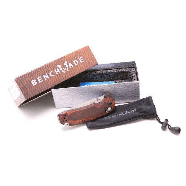 送料無料 (アウトドア)Benchmade ハント フォールディングナイフ ウッド【ベンチメイド】【折りたたみナイフ】 【181SS30】