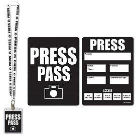プレスパス カードホルダー ■ PRESS PASS ネックストラップ パーティーグッズ コスプレ ハロウィン ハロウィーン