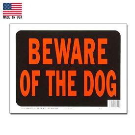 【プラスチックサイン】BEWARE OF THE DOG (猛犬注意) サインプレート【雑貨 英語 看板】
