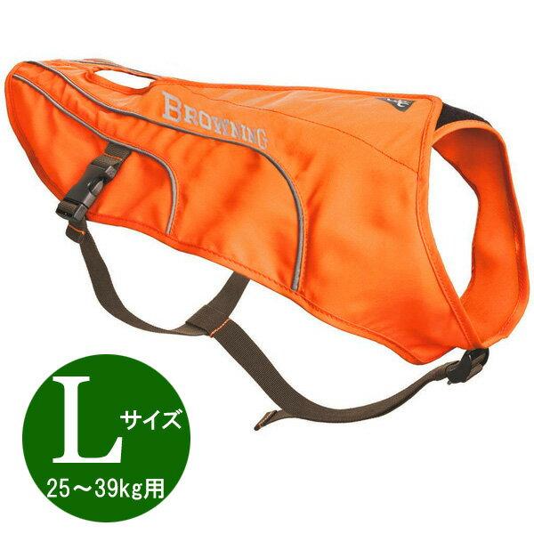 【ブローニング】【ドッグベスト】大型犬用 反射ベスト Lサイズ 25〜39kg用 オレンジ【BROWNING ペット用品 犬服 ハンティング】