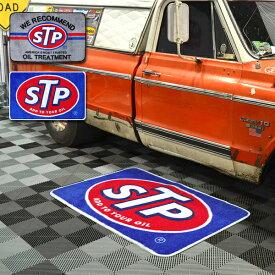 【マット】STP フロアマット 約43×65cm ブルー グレー 【玄関 屋内 敷物 アメリカン】