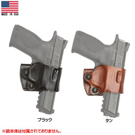 AKER ヤキスライド ホルスター No.154 右利き ブラック タン Colt 1911[実物用] Made in USA ■ エイカー YAQUI ミリタリー レザー コルト ガバメント