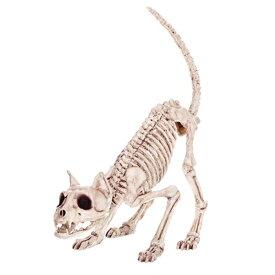 スケルトン キャット オブジェ ■ インテリア 雑貨 ディスプレイ ネコ 猫 骸骨 ドクロ ハロウィン ハロウィーン Halloween ホラー パーティー トイ おもちゃ
