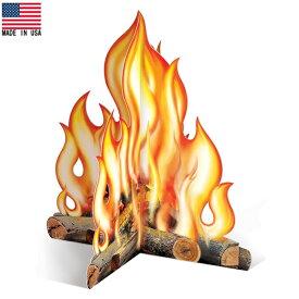 3D キャンプ ファイヤー ペーパーデコレーション Made in USA ■ 焚き火 紙製 雑貨 パーティーグッズ ハロウィン ハロウィーン