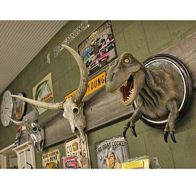 【壁掛インテリア】高品質ティラノサウルスT-REXウォールハンギング【恐竜像フィギュアインテリアアイテム】