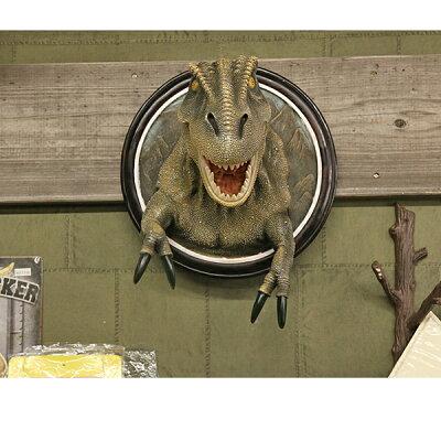 【壁掛インテリア】高品質ティラノサウルスT-REXウォールハンギング【恐竜雑貨像フィギュア】
