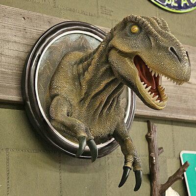 【恐竜壁掛インテリア】ティラノサウルスT-REX【雑貨像フィギュア壁掛DesignToscano社】