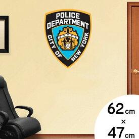 ウォール ステッカー NEW YORK CITY POLICE DEPARTMENT (ニューヨーク市警察) エンブレム ウォール デカール 62cm×47cm ■ 警察 ポリス ウォールデコ 雑貨 装飾 壁