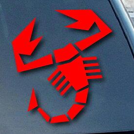 ステッカー アバルト スコーピオン ロゴ デカール 約10cm×10.5cm ■ FIAT ABARTH サソリ シール 車 カー 雑貨 小物
